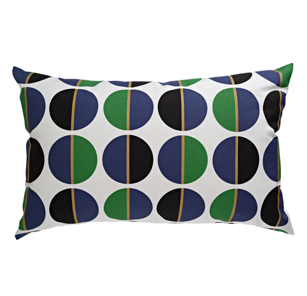 Orbs Navy Emerald Lumbar Pillow VIA SAN VITO