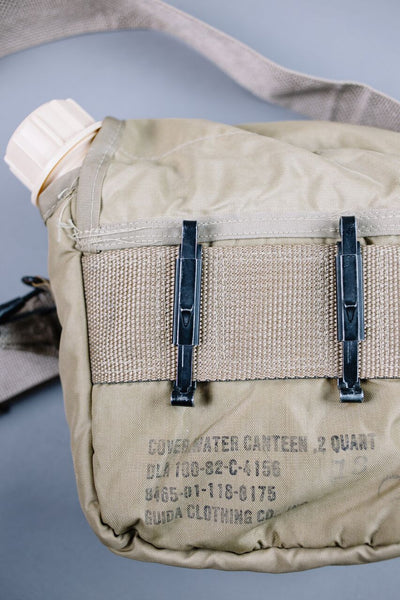 US Military 2 Qt. Collapsible Water Canteen with Insulated Cover - Tan