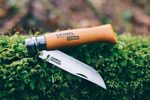 OPINEL CARBON BLADE NO8 FOLDING KNIFE, France Made