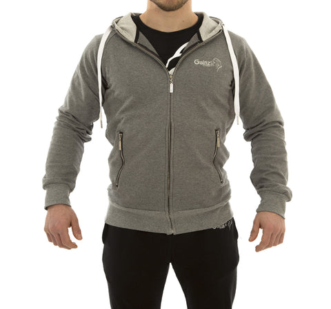 Calesco Zip Hoodie - Heather Grey - Gainz Fitness - 1