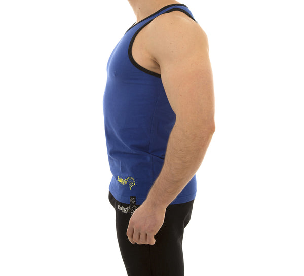 Nova Tank - Cobalt Blue - Gainz Fitness - 2