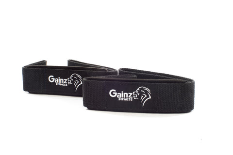 Padded lifting straps - black - Gainz Fitness - 1