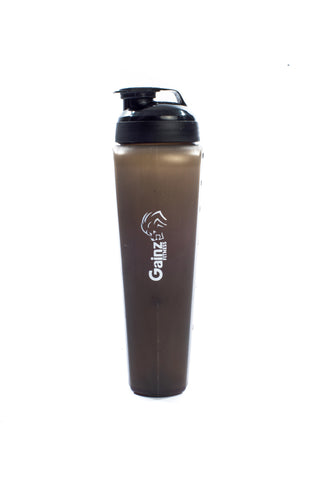 Gains Fitness 600ml shaker bottle - Translucent Black - Gainz Fitness - 1