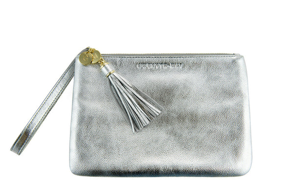 The 'Mia' Pouch - Silver - GWENYTH MAY