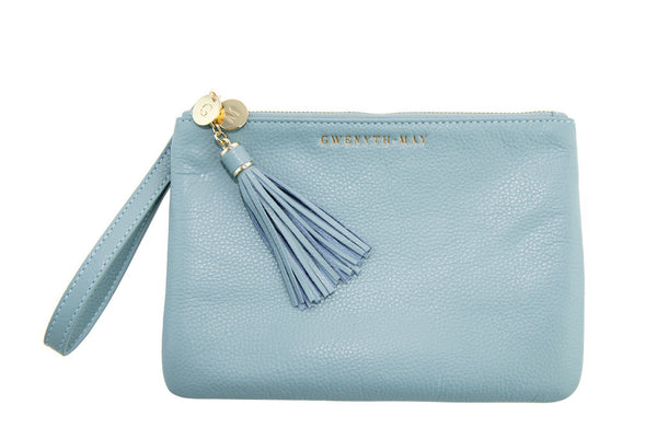 The 'Mia' Pouch - Pale Blue - GWENYTH MAY