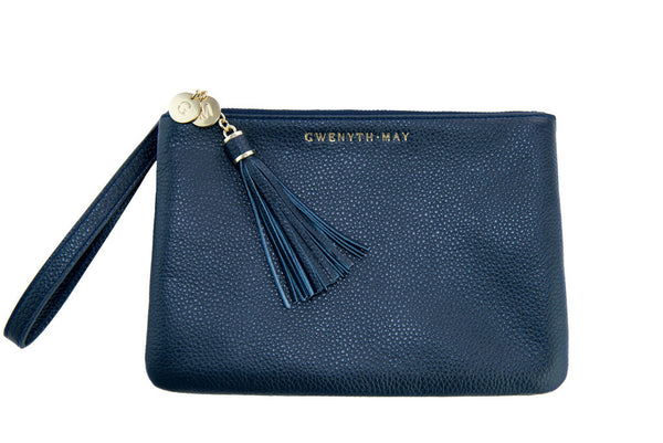 The 'Mia' Pouch - Navy - GWENYTH MAY
