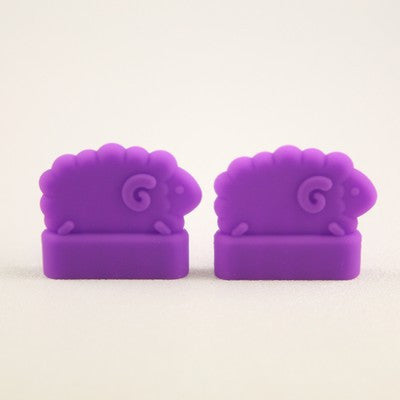 Point Protectors: sheep, purple, large, double pointed, Clover - discontinued