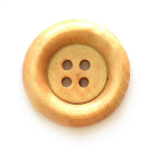 Button, wood, 23/25mm, plain, two colours