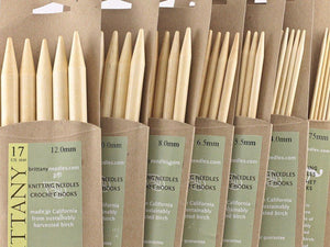 Brittany Double Pointed Needles, bamboo DPNs - 12mm