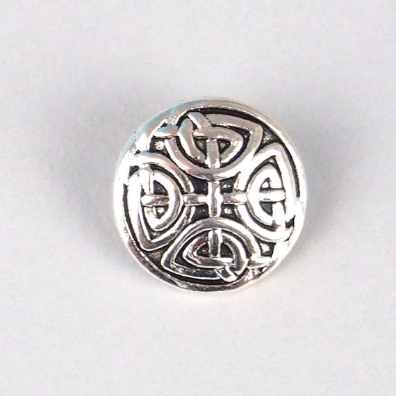 Button, metal, 17mm, antique Celtic knot
