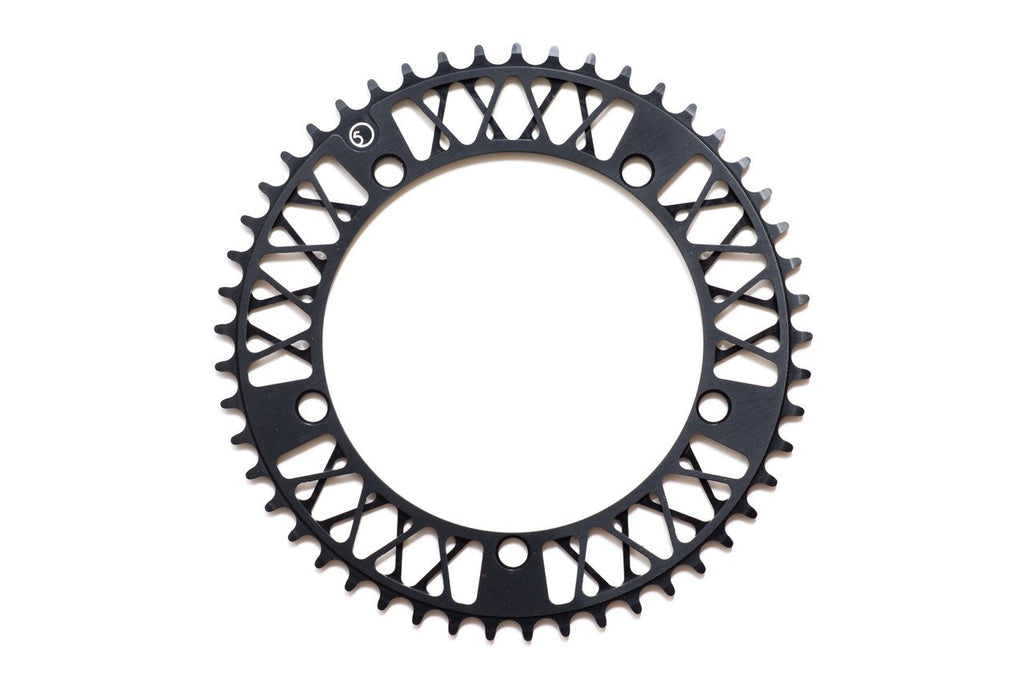 Factory Five - F5 Lattice Chainring - 47t , 48t , 49t , 51t (Anodized Black) (Ships via USA)