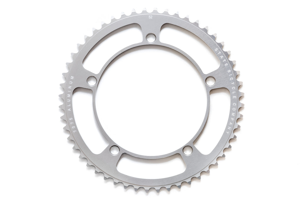 Black Label Series: Chainring - Silver (46t , 48t , 49t , 52t) (Ships via USA)