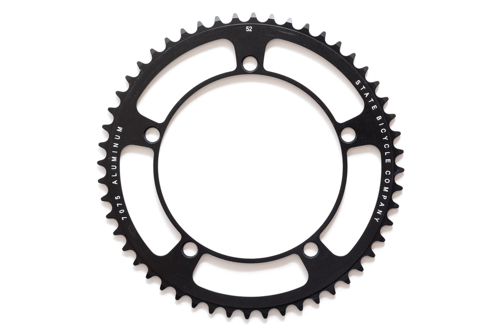 Black Label Series: Chainring - Black (46t , 48t , 49t , 52t)