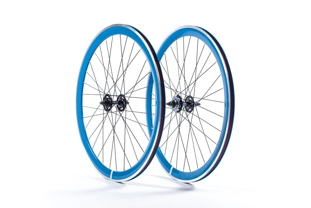 State Bicycle Co. - 40mm Deep V Royal Blue Wheel Set