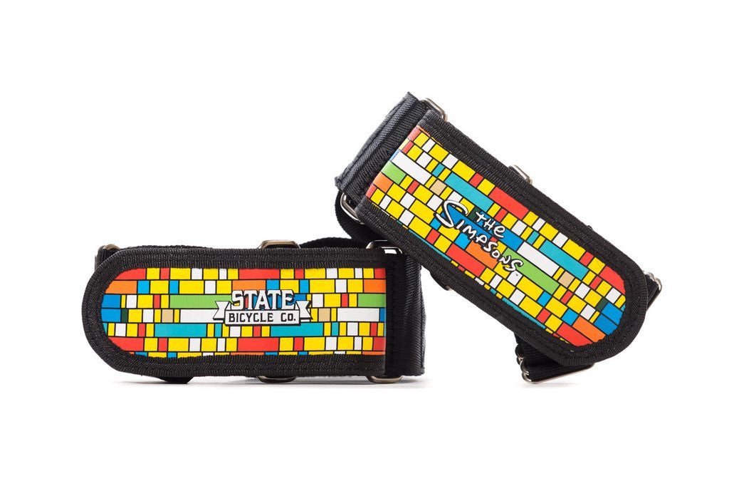 The Simpsons X State Bicycle Co. - Color Block Foot Straps (Ships via USA)