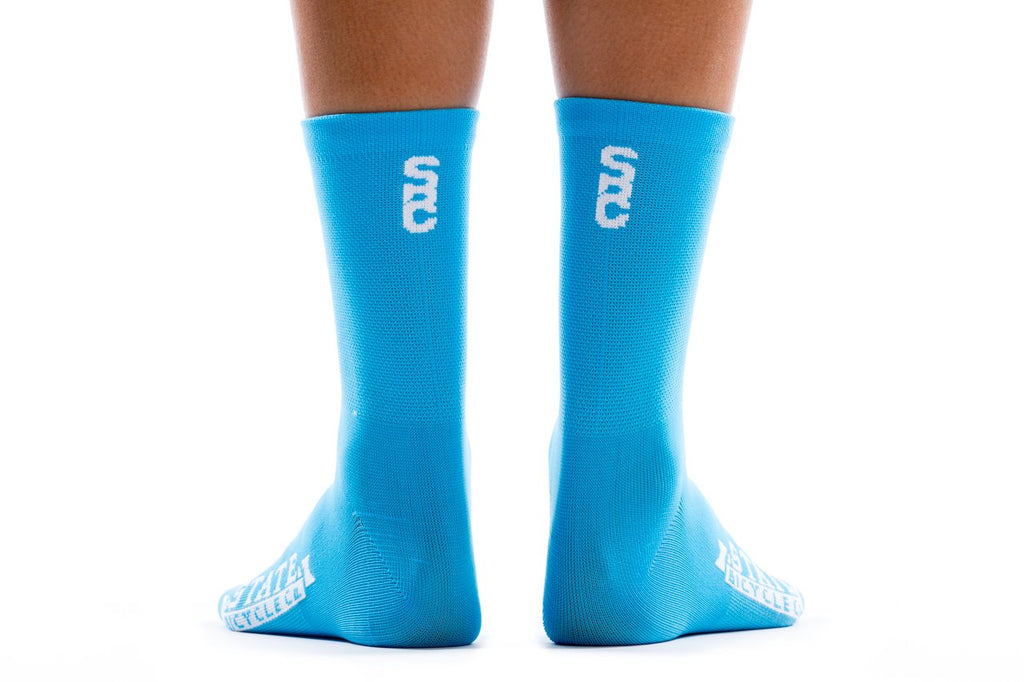 State Bicycle Co. - Black Label Cycling Sock - Laguna Blue (Ships via USA)