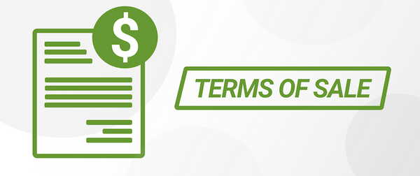 terms of sale banner