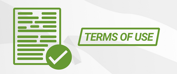 terms of use banner