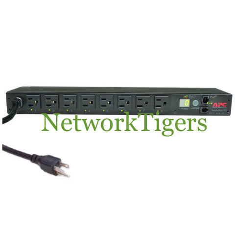 APC AP7800 Metered 8x NEMA 5-15R 15A 120V 1U RacK Mounted PDU