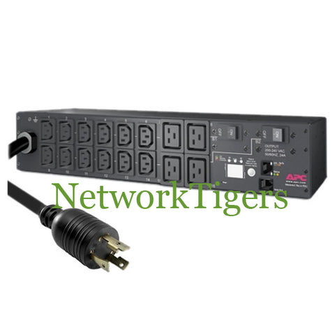 APC AP7811 208V 30A 16 Plug Metered Rack Mounted PDU Power Distribution Unit