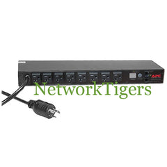 APC AP7801 Metered 8x NEMA 5-15 16A 120V 1U Rack Mounted PDU - NetworkTigers