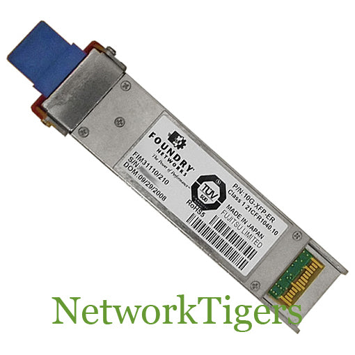 LC for up to 10km over SMF Brocade 10G-XFP-LR 1310nm serial pluggable XFP