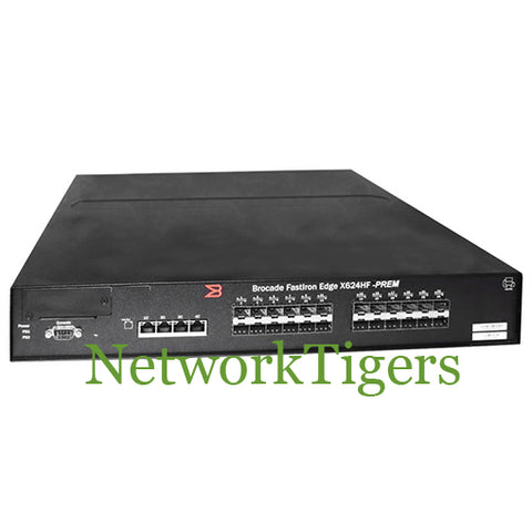 Brocade FESX624HF-PREM FastIron 24x Gigabit SFP 4x Combo Copper/Fiber Switch