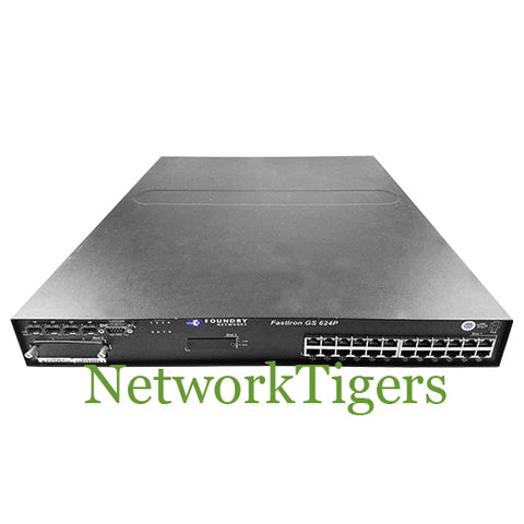 Brocade FGS624P-POE-STK FastIron GS Series 24x GE 4x 1G Combo Switch