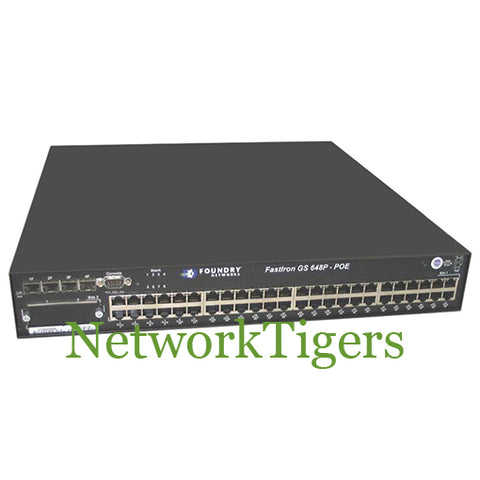 Brocade FGS648P-POE FastIron GS Series 48x Gigabit Ethernet PoE 4x 1G SFP Switch
