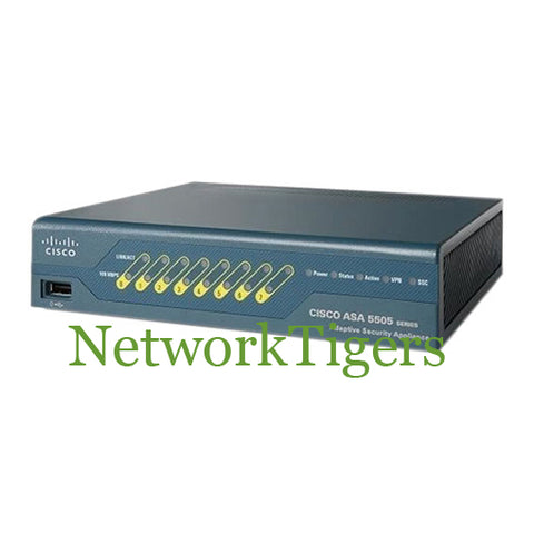 Cisco ASA5505-BUN-K9 8x Fast Ethernet 10 User IPSec 3DES Firewall - NetworkTigers