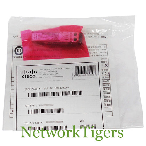 NEW Cisco GLC-FE-100FX-RGD 100 Mbps BASE-FX MMF Optical SFP Transceiver
