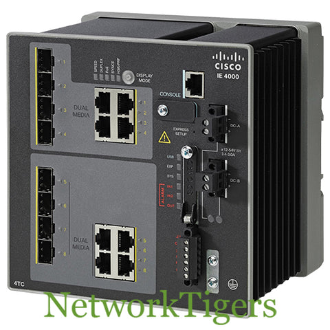 Cisco IE-4000-4TC4G-E IE 4000 Series 4x FE Combo 4x GE Combo LAN Base Switch