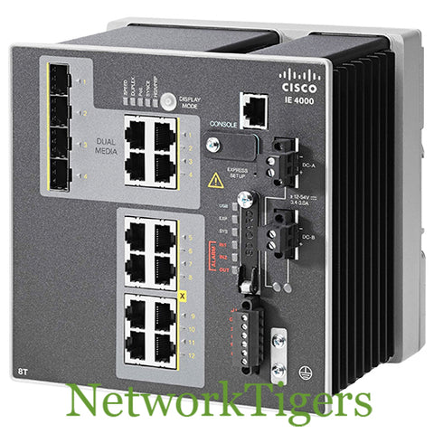 Cisco IE-4000-8T4G-E IE 4000 Series 8x FE 4x 1G Combo LAN Base Switch