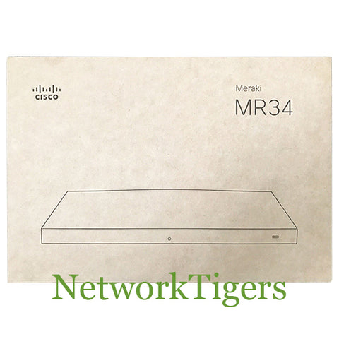 NEW Cisco Meraki MR34-HW MR34 Series 3x Radio 3x3 802.11ac Unclaimed Wireless AP
