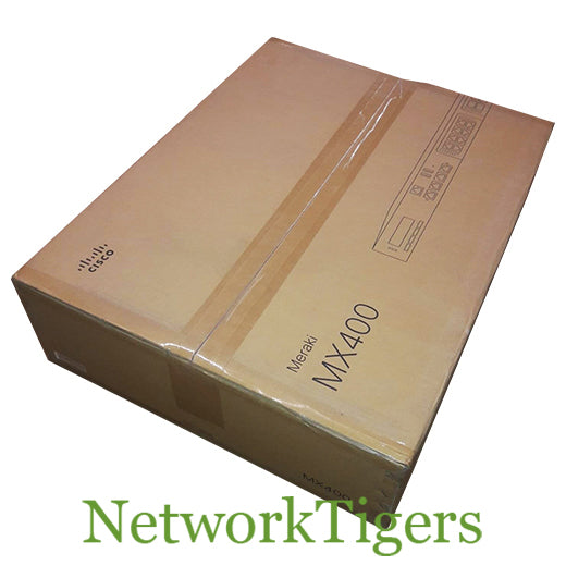 NEW Cisco Meraki MX400-HW 1 Gbps 4x 1GB RJ-45 2x Module Slot Unclaimed Firewall