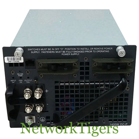 Cisco PWR-C45-1400DC-P C4500 Series 1400W DC Switch Power Supply - NetworkTigers