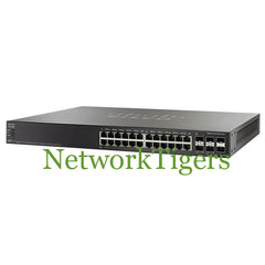 Cisco SF500-24P 500 Series 24x Fast Ethernet PoE+ 2x 1G Combo 2x 1G SFP Switch - NetworkTigers