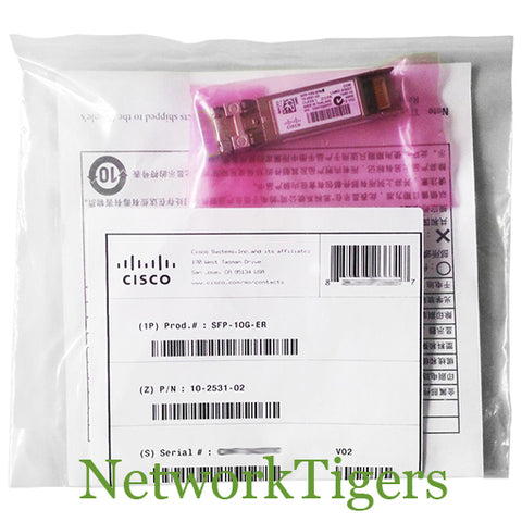 NEW Cisco SFP-10G-ER-S Optical 10 Gigabit BASE-ER SMF SFP+ Transceiver