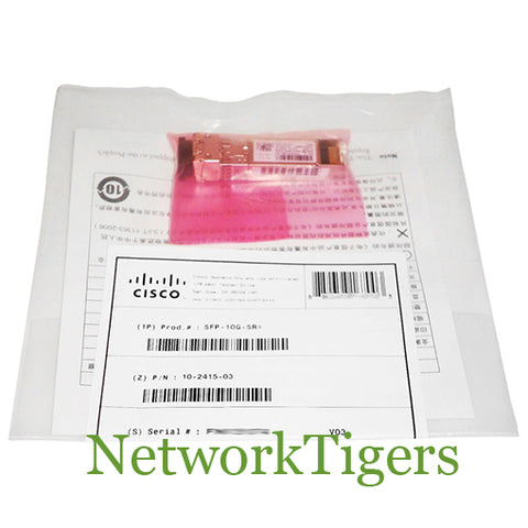 NEW Cisco SFP-10G-SR-S 10 Gigabit BASE-SR MMF SFP+ Optical Transceiver