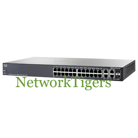 Cisco SG300-28P-K9-NA Small Business 300 24x GE PoE 2x 1G Combo Switch