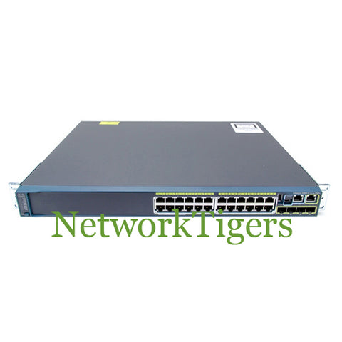 Cisco WS-C2960S-24PS-L 2960S Series 24x GE PoE+ 4x 1G SFP LAN Base Switch
