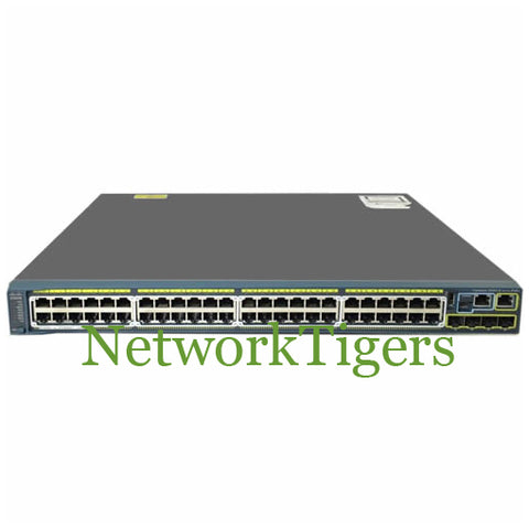 Cisco WS-C2960S-48LPS-L 2960-S Series 48x Gigabit Ethernet PoE+ 2x 1G SFP Switch