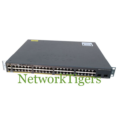NEW Cisco WS-C2960X-48LPS-L 48x Gigabit Ethernet 4x 1G SFP LAN Base Switch - NetworkTigers