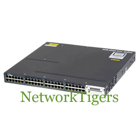 Cisco WS-C3560X-48PF-S C3560X Series 48x Gigabit Ethernet PoE+ IP Base Switch