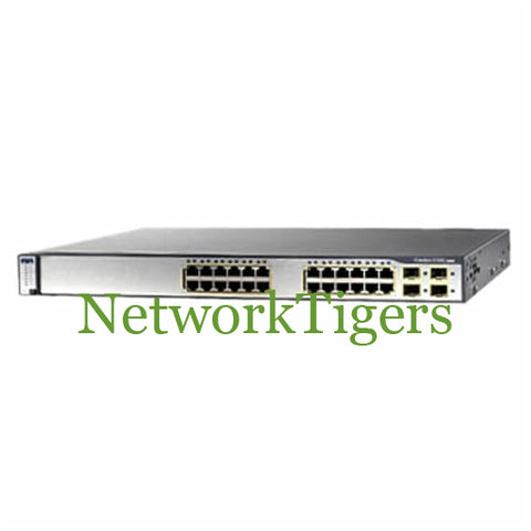 Cisco WS-C3750G-24TS-E1U 24x Gigabit Ethernet 4x 1G SFP IP Services Switch - NetworkTigers