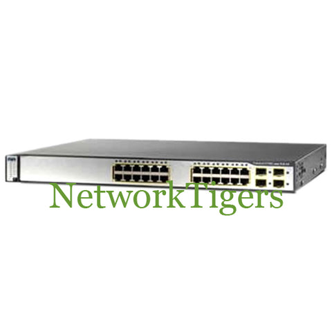Cisco WS-C3750G-24TS-S1U 24x Gigabit Ethernet 4x 1G SFP IP Base Switch - NetworkTigers