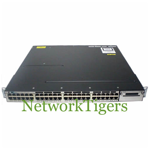 Cisco WS-C3750X-48P-S 3750-X Series 48x Gigabit Ethernet PoE+ IP Base Switch