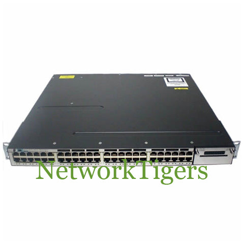 Cisco WS-C3750X-48PF-S C3750-X Series 48x Gigabit Ethernet PoE+ IP Base Switch