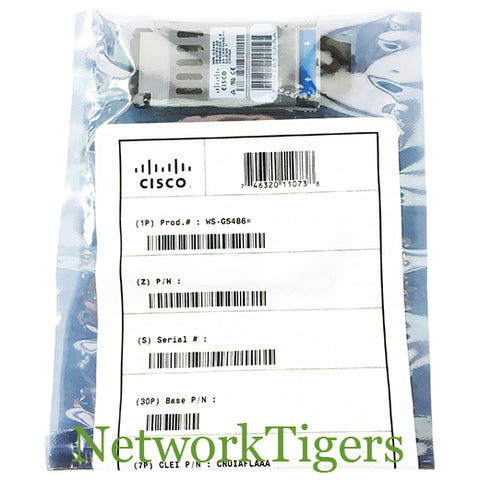 NEW Cisco WS-G5486 1 Gigabit BASE-LX/LH Optical SFP Transceiver