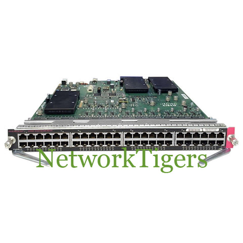 Cisco WS-X6148E-GE-45AT 6500 Series 48x Gigabit Ethernet PoE+ Switch Line Card